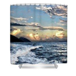 Sunset Wake Shower Curtain