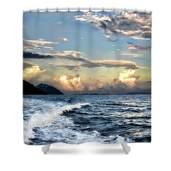 Sunset Wake Shower Curtain