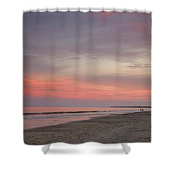 Sunset Walk Shower Curtain by Sally Simon