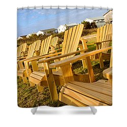 Shower Curtain featuring the photograph Sunset Watch by T Brian Jones