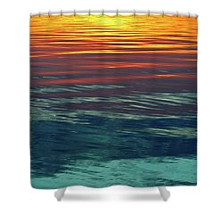 Sunset Water  Shower Curtain by Lyle Crump