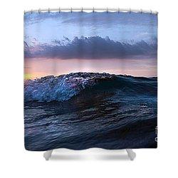 Sunset Wave-wards Beach Shower Curtain