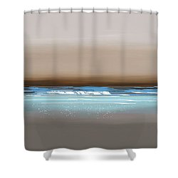 Sunset Waves Shower Curtain by Anthony Fishburne