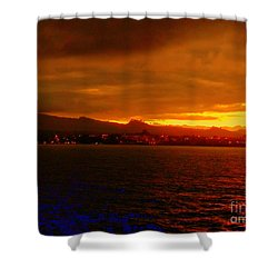 Sunset West Africa Shower Curtain