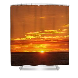 Sunset Windmill 02 Shower Curtain by Rob Graham