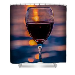 Sunset Wine Shower Curtain