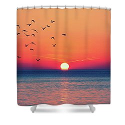 Sunset Wishes Shower Curtain