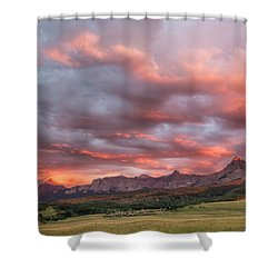 Sunset With Rain Clouds Shower Curtain
