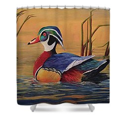 Sunset Wood Duck Shower Curtain