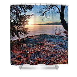 Sunsets Creates Magic Shower Curtain by Rose-Marie Karlsen