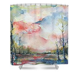 Sunsets Grace On The River Shower Curtain