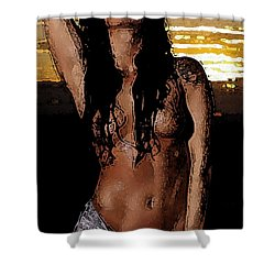 Sunset's Passion. Shower Curtain by Shlomo Zangilevitch