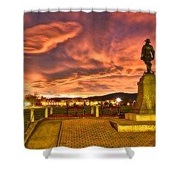 Sunset's Veil Shower Curtain