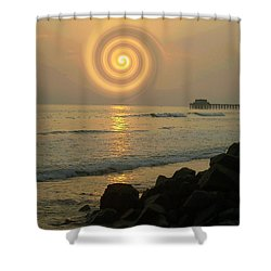 Sunsetswirl Shower Curtain