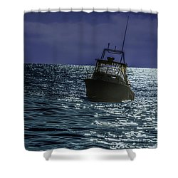 Sunsetting On Fisher Betting Shower Curtain