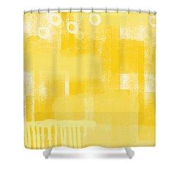 Sunshine  Abstract Art Shower Curtain