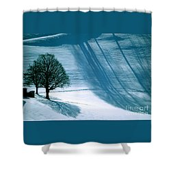 Shower Curtain featuring the photograph Sunshine And Shadows - Winterwonderland by Susanne Van Hulst