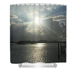 Sunshine Bursting Through The Clouds Shower Curtain