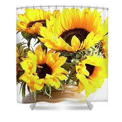 Sunshine Sunflowers Shower Curtain