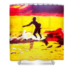 Sunsplashed Surf Shower Curtain