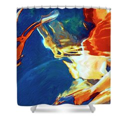 Shower Curtain featuring the painting Sunspot by Dominic Piperata