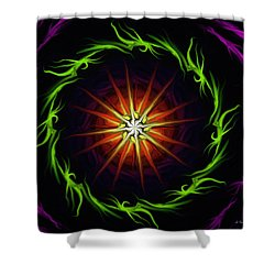 Sunstar Shower Curtain by Jennifer Galbraith
