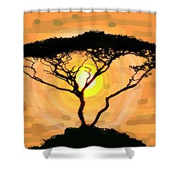 Suntree Shower Curtain