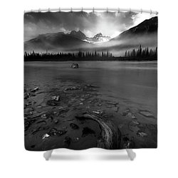 Sunwapta River, Jasper Shower Curtain