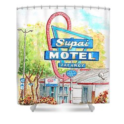 Supai Motel In Route 66, Seliman, Arizona Shower Curtain