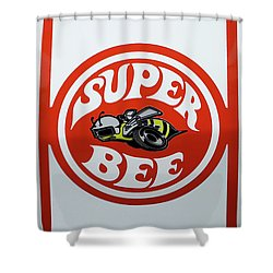 Shower Curtain featuring the photograph Super Bee Emblem by Mike McGlothlen