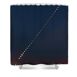 Super Blood Lunar Eclipse Shower Curtain