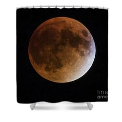 Super Blood Moon Lunar Eclipses Shower Curtain