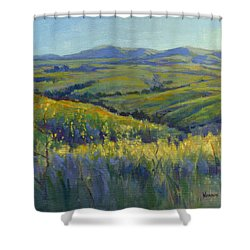Super Bloom 3 Shower Curtain