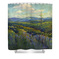 Super Bloom 4 Shower Curtain