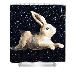 Super Bunny Shower Curtain by Sarah Loft