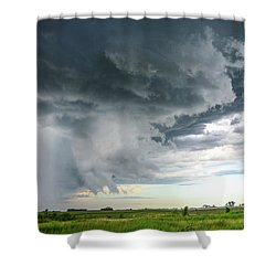 Shower Curtain featuring the photograph Super Cell Over Otter Tail County by Alex Blondeau