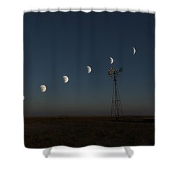 Shower Curtain featuring the photograph Super Comanche Blood Moon Eclipse by Karen Slagle