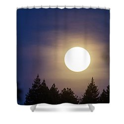 Super Full Moon Shower Curtain