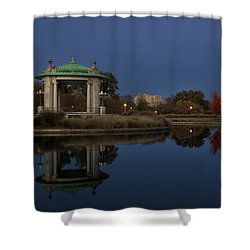 Shower Curtain featuring the photograph Super Moon by Andrea Silies