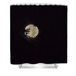 Super Moon At Dawn Shower Curtain