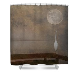 Super Moon Shower Curtain by Carolyn Dalessandro