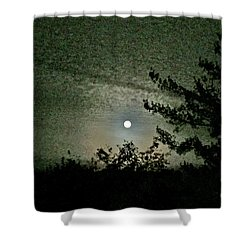 Super Moon Colors Shower Curtain