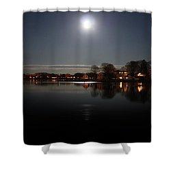 Super Moon  Shower Curtain by Mark Ashkenazi