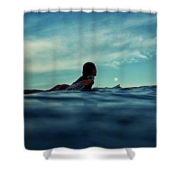 Super Moon Shower Curtain