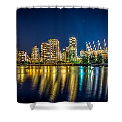 Super Moon Over Vancouver  Shower Curtain