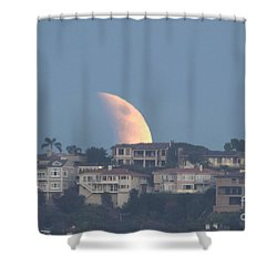 Super Moon Rise Shower Curtain