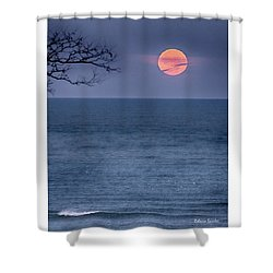 Super Moon Waning Shower Curtain