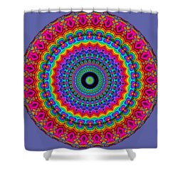 Super Rainbow Mandala Shower Curtain