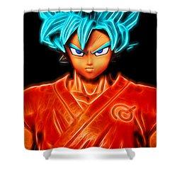 Super Saiyan God Goku Shower Curtain