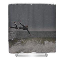 Super Surfing Shower Curtain